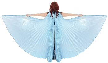 Isis Wings Belly Dance Costume Prop - LIGHT ICE BLUE