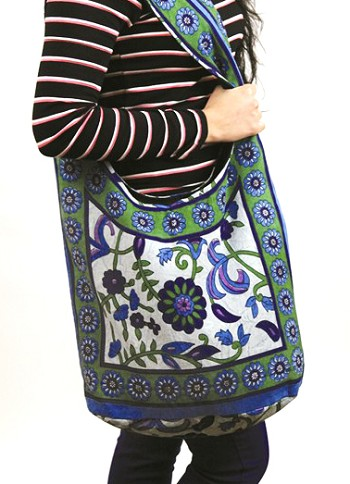 Floral Design Expandable Dance Bag or Tote