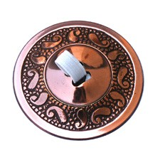 Finger Cymbals with Paisley Pattern - Copper Plated