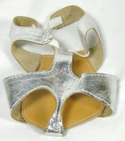 Leather Half-Shoe for Belly Dance (pair) - SILVER