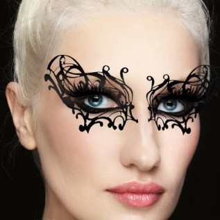 Xotic Eyes Velvet Eye Applique Stage Makeup - WIDOW MASK