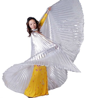 Closed Back Isis Wings Belly Dance Costume Prop - SILVER