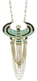 Cleopatra's Queen of Egypt Horus Necklace With Chain Swags