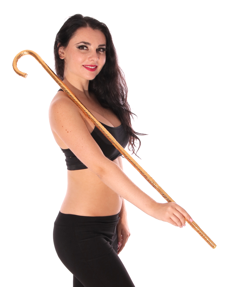 Egyptian Belly Dance Cane for Saidi Bellydance - GOLD