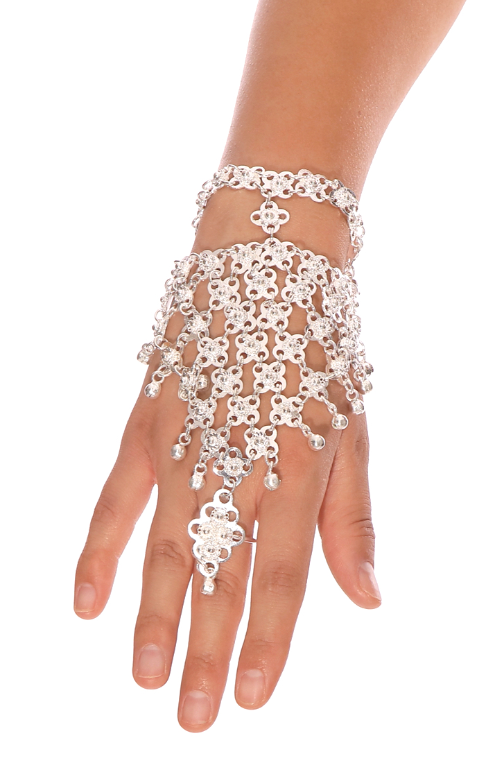 Bollywood Jingle Metal Slave Bracelet - SILVER