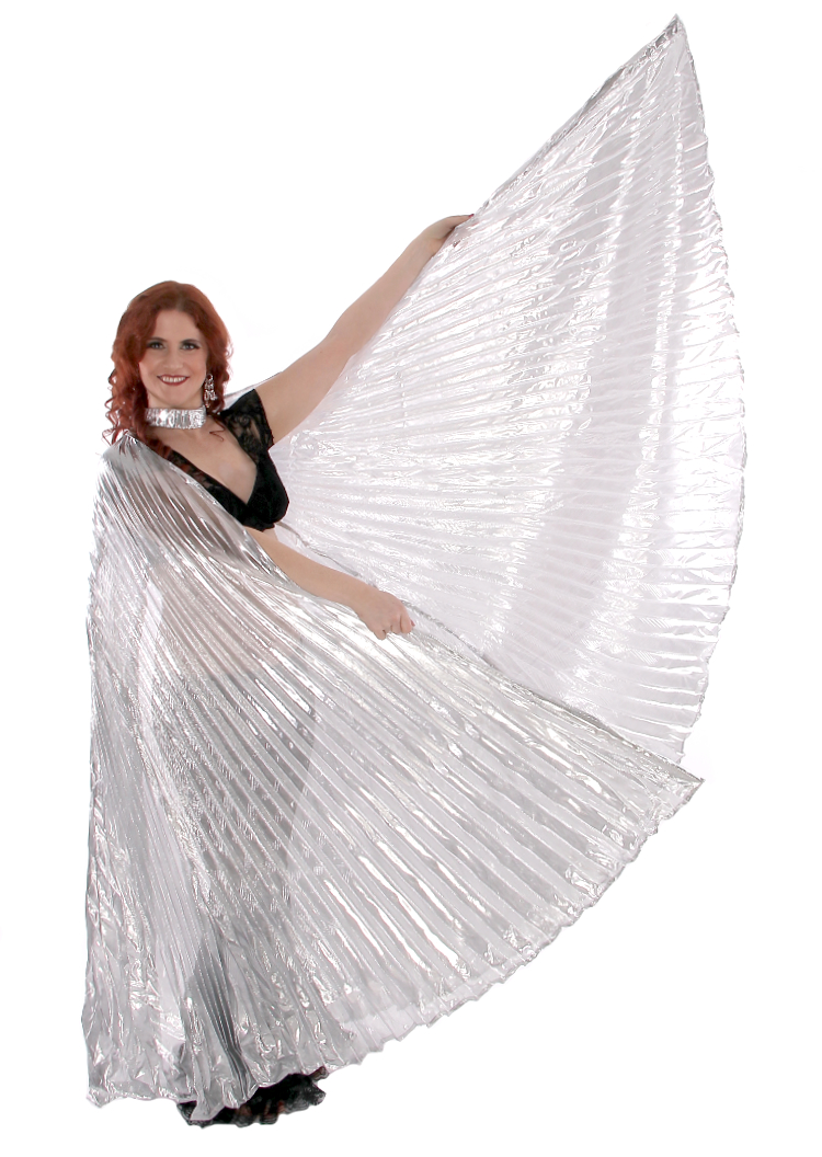 Isis Wings Belly Dance Costume Prop - SILVER