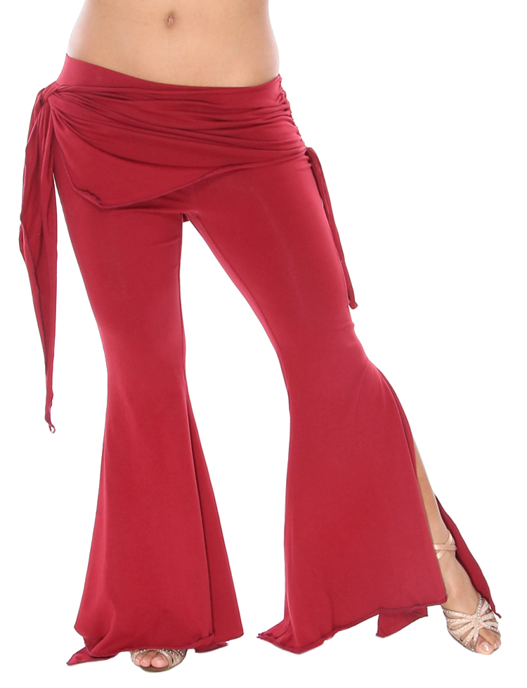 Tribal Fusion Gothic Belly Dance Pants - BURGUNDY