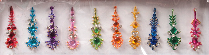 Bindi - 10 Assorted Shapes - COLORS