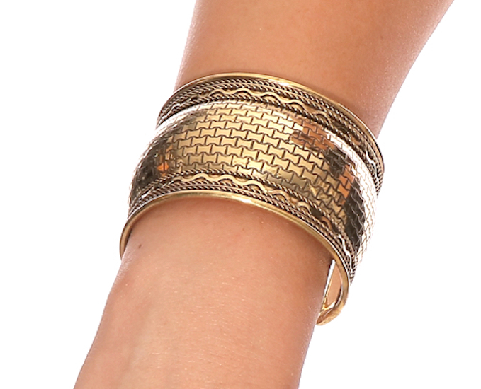 Embossed Cuff Costume Bracelet from India