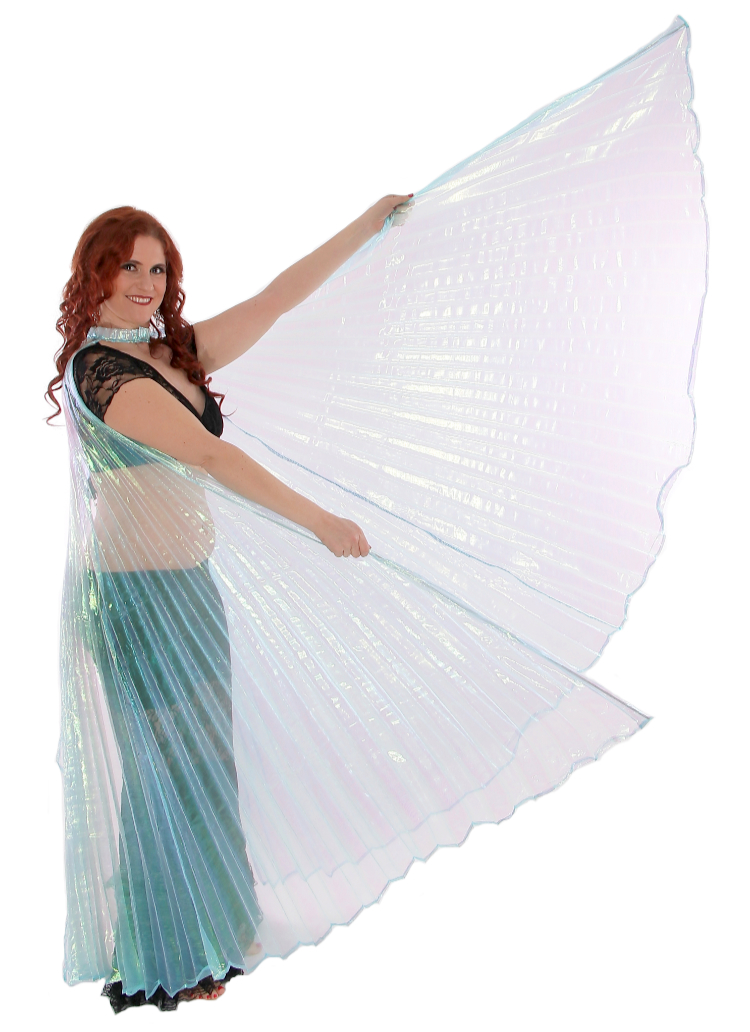 Isis Wings Belly Dance Costume Prop - TURQUOISE OPAL