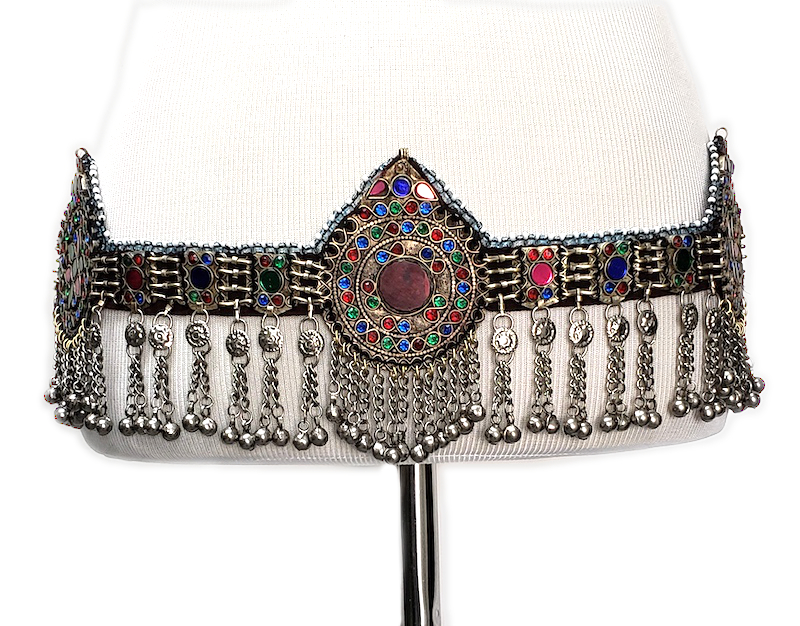 Colorful Afghani Tribal Kuchi Belt with Medallions