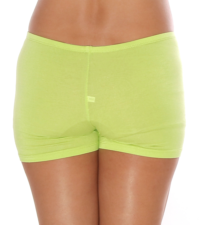 Boyshort Dance Undergarment Costume Shorts -  LIME GREEN