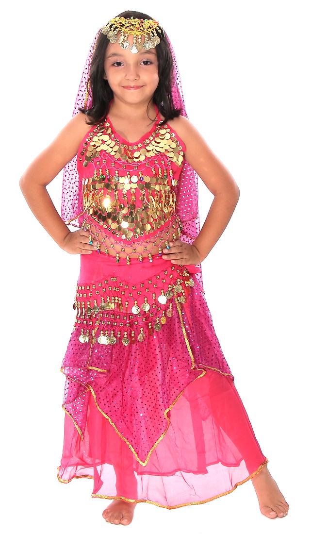 Little Girl S Belly Dancer Costume In Dark Pink