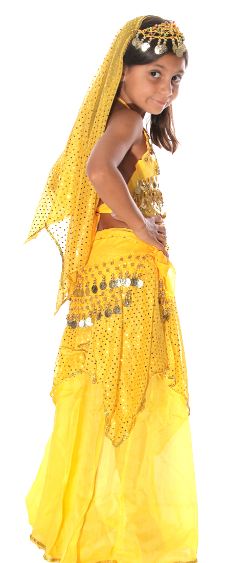 Little Girl S Belly Dancer Costume In Yellow