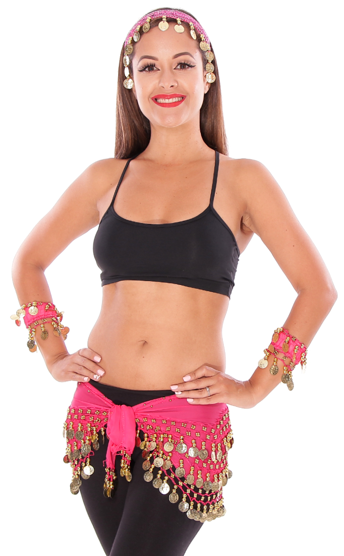 Belly Dance Basics Accessory Kit - ROSE PINK