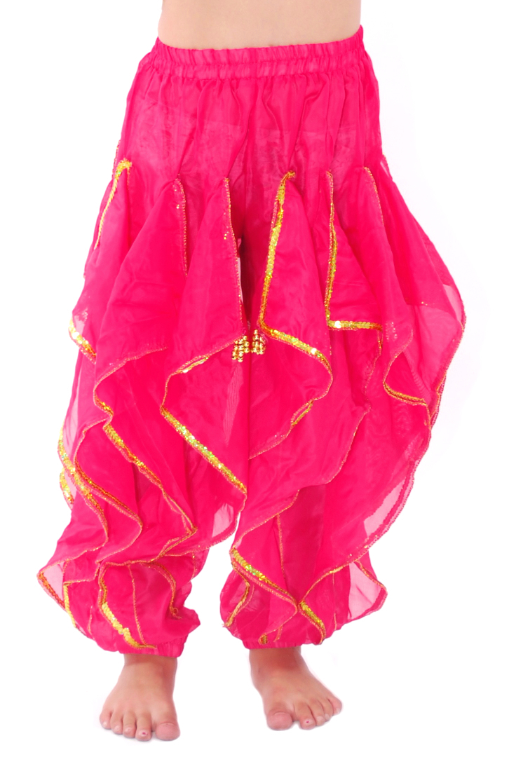 41c3d554a8 KIDS Endless Wave Bollywood Ruffle Harem Pants - ROSE PINK