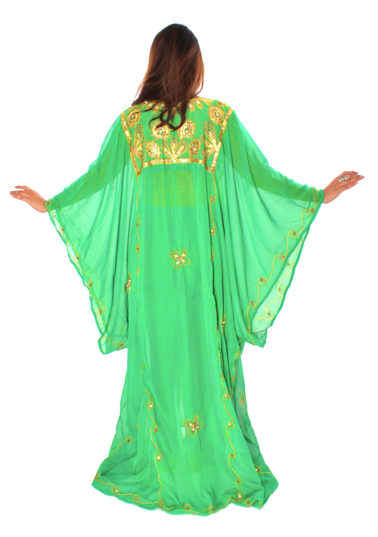 CAIRO COLLECTION  Traditional Khaleeji Thobe Dress - BRIGHT GREEN   GOLD.  Tap to expand. Model  Elise. Add to Wish List dc985c046
