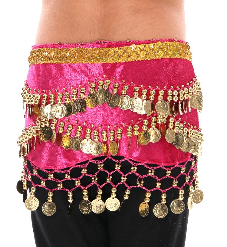 99719220a4d3 Little Girls Shimmering Velvet Fuchsia Belly Dance Costume