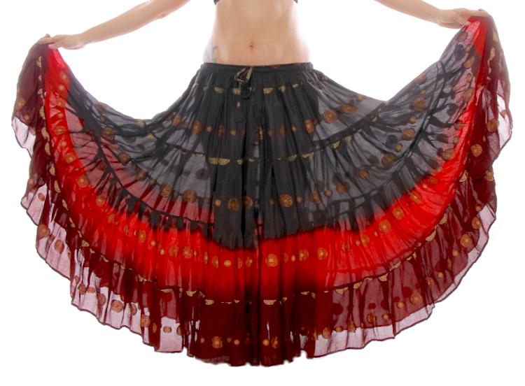 29e149ecb9f09 Add to My Lists. 25 Yard BINDI SARI Tribal Gypsy Dance Skirt - BLACK   RED  ...