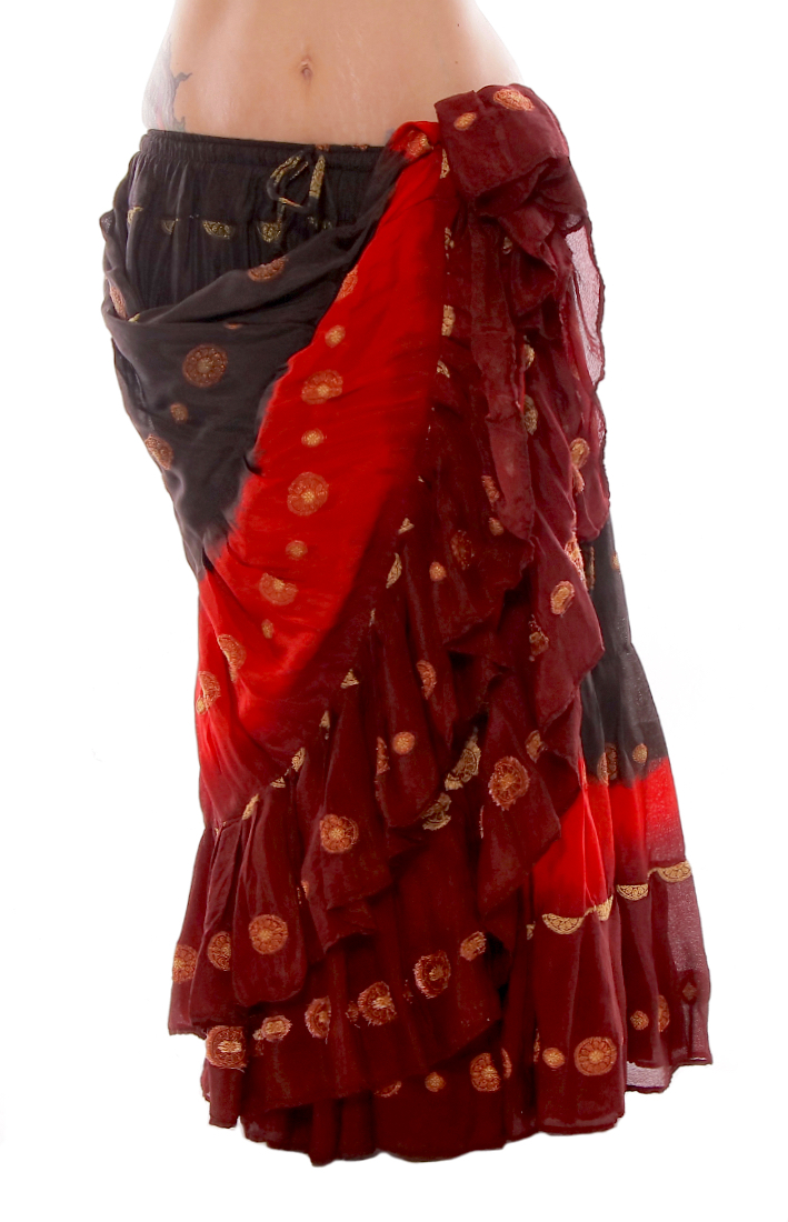 70eb6a211fb11 25 Yard Bindi Sari Tribal Gypsy Dance Skirt in Black