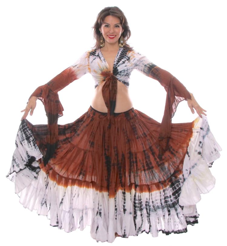 4116f17954583 Le Tigre Cotton Gypsy Tribal Skirt and Choli Set
