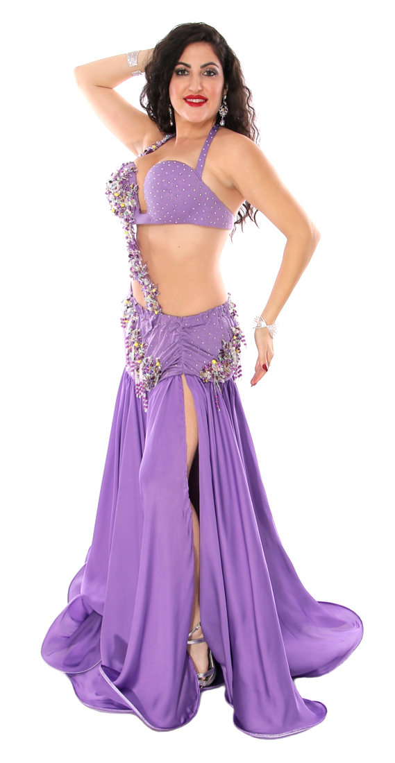 CAIRO COLLECTION: Professional Belly Dance Costume from Egypt - ORCHID PURPLE