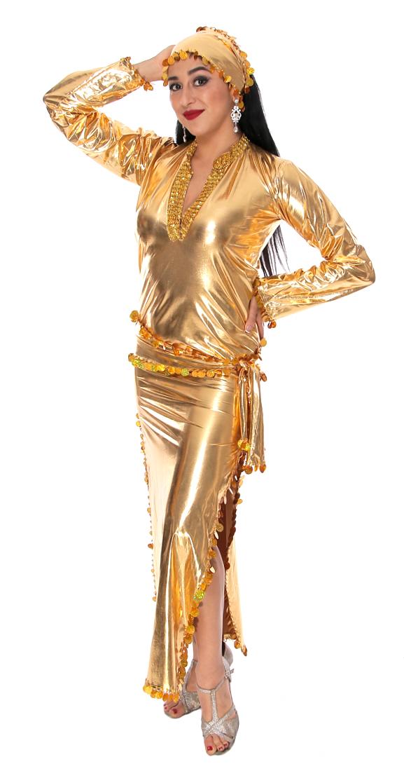 a2403ad4c238b Professional Belly Dance Gold Beledi Saiidi Dress | Bellydance.com
