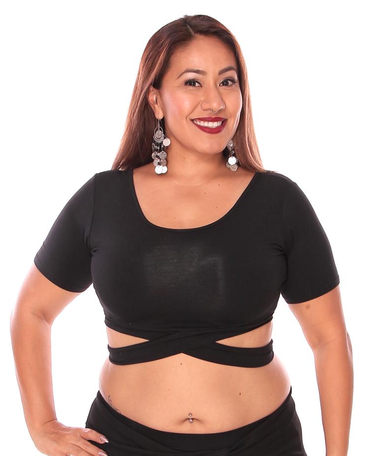Black blouse  black top  pop top  black crop top  top lady