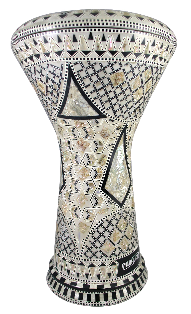Pro Series Doumbek/Darbuka (Egyptian Tabla) with Mother of Pearl Mosaic Inlays - AL AHRAM