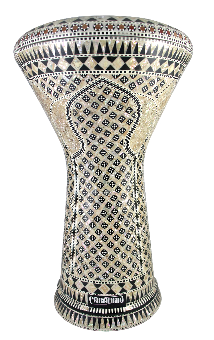 Pro Series Doumbek/Darbuka (Egyptian Tabla) with Mother of Pearl Mosaic Inlays - AL QUBA