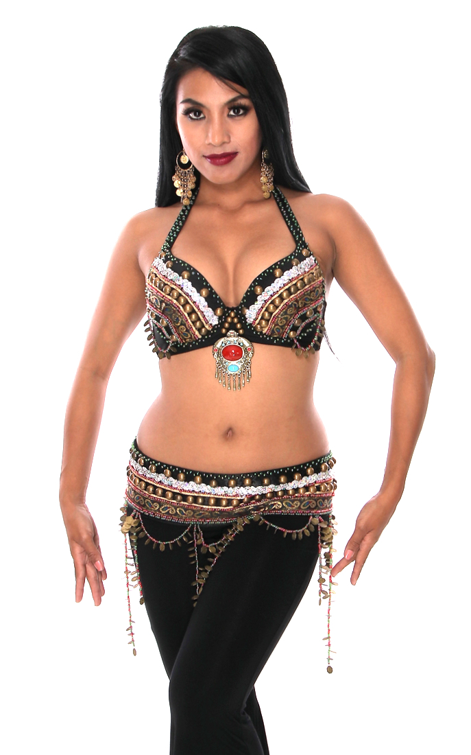 Tribal Zari Bra and Belt Set