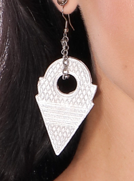 Talhakimt Pendant Earrings - SILVER