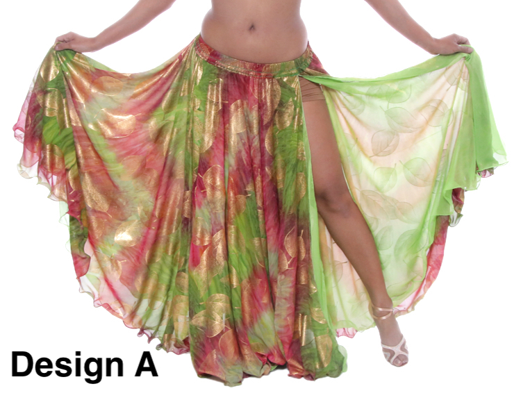 Details about  /Chiffon Two Side Slit Belly Dance Practice Skirt BLACK Women Special Long Skirt