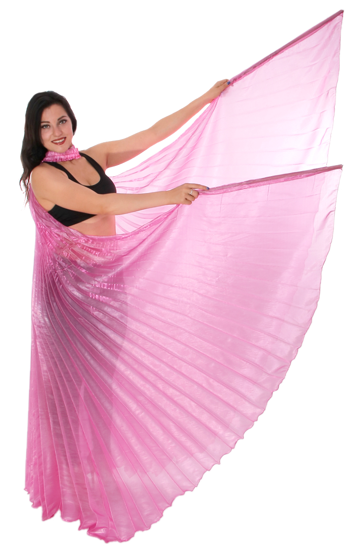 Egyptian Organza Isis Wings - PINK
