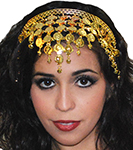 Pyramid Coin Headband for Belly Dance - GOLD