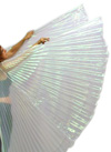 PETITE Closed Back Isis Wings Belly Dance Costume Prop - WHITE OPAL