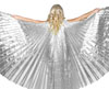 PETITE Closed Back Isis Wings Belly Dance Costume Prop - SILVER
