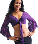 Lace Bolero Choli Top -  DARK PURPLE