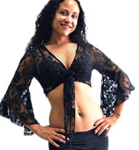 Lace Bolero Choli Top - BLACK