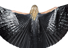 Isis Wings Belly Dance Costume Prop - BLACK