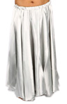 Satin Belly Dance Costume Skirt - SILVER