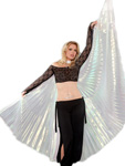 Closed Back Isis Wings Belly Dance Costume Prop - WHITE OPAL