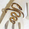 Twisted Serpent Snake Armband Upper Arm Bracelet  - GOLD