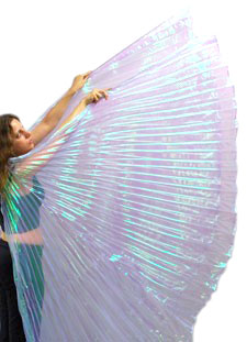 Isis Wings Belly Dance Costume Prop - LILAC OPAL