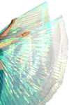 Closed Back Isis Wings Belly Dance Costume Prop - TURQUOISE OPAL