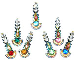 7 Small Colorful Rhinestone Bindis