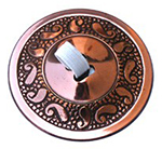 Finger Cymbals with Paisley Pattern - SET OF 4 - Copper Plated