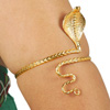 Hissing Cobra Metal Snake Arm Band - GOLD