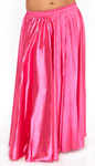 Satin Belly Dance Costume Skirt - HOT PINK