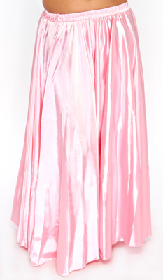 Satin Belly Dance Costume Skirt - PINK